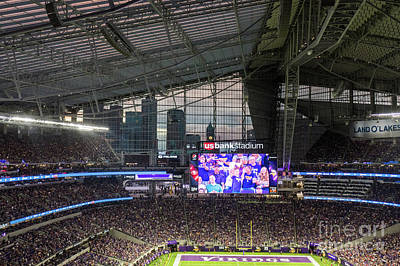 Photograph - Bring It Home Minnesota Vikings Us Bank Stadium by Wayne Moran
