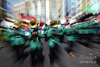 Marching Band Photograph - Bring On The Brass Band 1 by James Brunker