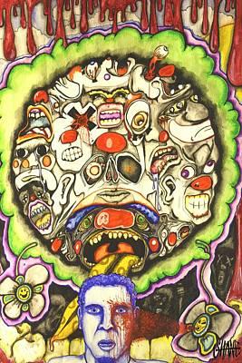 Bring Out The Clowns Art Print by Sam Hane