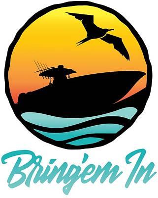 Digital Art - Bring'em In Sunset Cruise by Kevin Putman