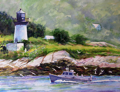 Painting - Bringing Home The Catch by Carl Whitten