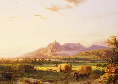 Big Skies Painting - Bringing In The Harvest by Pieter Lodewijk Francisco Kluyver