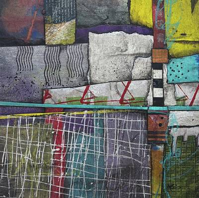 Squares Mixed Media - Bringing It All To The Surface  by Laura Lein-Svencner