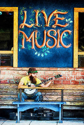 Digital Art - Bringing Live Music To The Streets by John Haldane