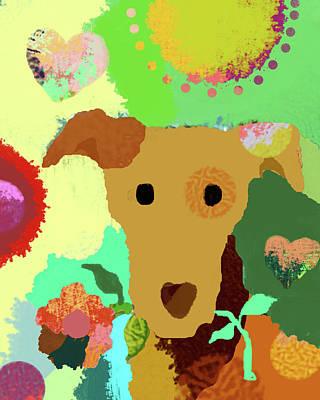 Dog Christmas Card Digital Art - Bringing The Love by Holly McGee
