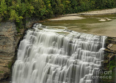 Photograph - Brink Of Letchworth Middle Falls by Karen Jorstad