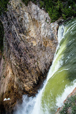 Photograph - Brink Of The Lower Falls Of The Yellowstone River 2p by Frank Madia