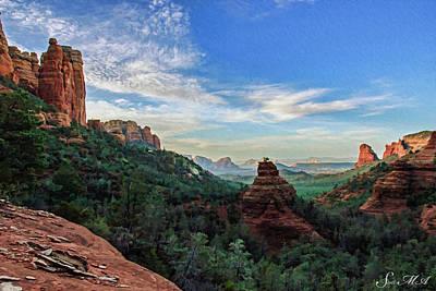 Cathedral Rock Digital Art - Brins Mesa 07-216 by Scott McAllister