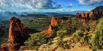 Cathedral Rock Digital Art - Brins Ridge 04-070pan by Scott McAllister