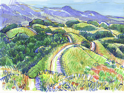 Painting - Briones Crest In May, Lafayette, Ca by Judith Kunzle