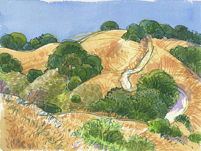 Painting - Briones Crest Trail In June by Judith Kunzle
