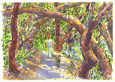 Painting - Briones Forest Near Springhill Road by Judith Kunzle