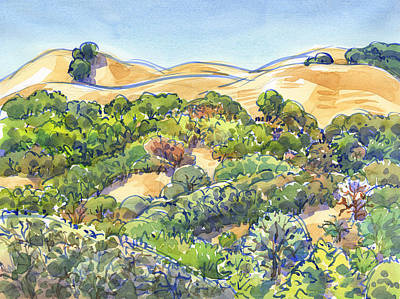 Painting - Briones Regional Park Hills by Judith Kunzle