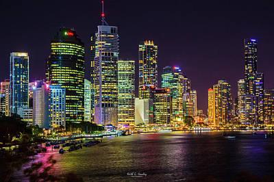 Photograph - Brisbane At Night by Keith Hawley