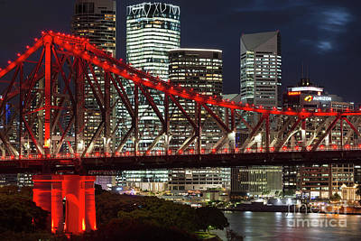 Photograph - Brisbane Bridge by Andrew Michael