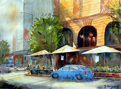 Painting - Brisbane Cafe by Sof Georgiou