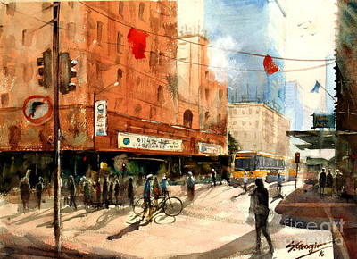 Painting - Brisbane City Early Morning by Sof Georgiou