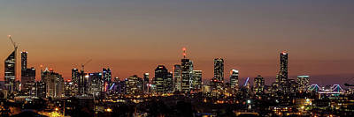 Brisbane City Skyline Art Print