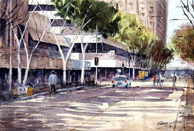 Painting - Brisbane Cityscape #1 by Sof Georgiou