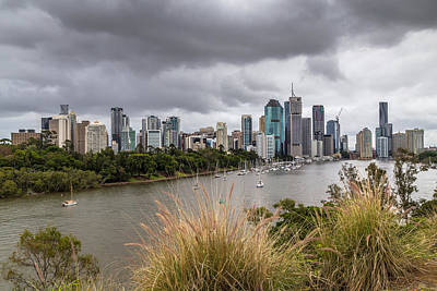 Canon 6d Digital Art - Brisbane From Kangaroo Point Cliffs by Keith Hawley