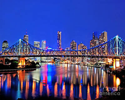 New Years Royalty Free Images - Brisbane In Late Evening Royalty-Free Image by Chris Smith