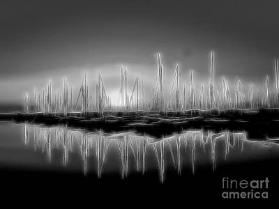 Avant Garde Photograph - Brisbane Marina Abstract  by Scott Cameron