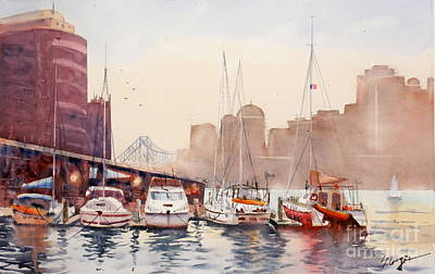 Painting - Brisbane River From Gardens Point by Sof Georgiou