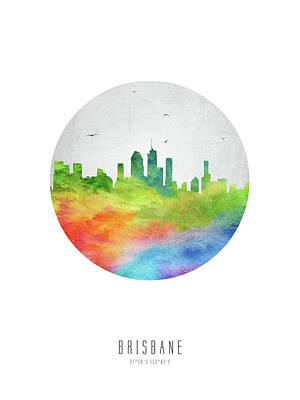 Brisbane Skyline Aubr20 Art Print by Aged Pixel