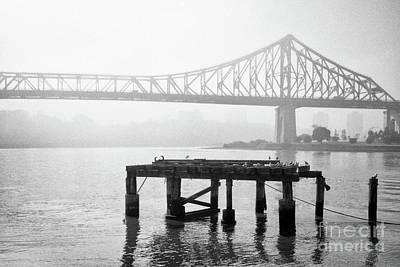 Photograph - Brisbane Storey Bridge In Mist by Rick Piper Photography