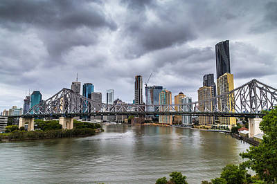Canon 6d Digital Art - Brisbane's Story Bridge by Keith Hawley