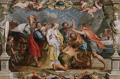 Peter Paul Rubens Painting - Briseis Restored To Achilles By Nestor by Peter Paul Rubens