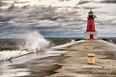 Photograph - Brisk Afternoon At Menominee Harbor by Mark David Zahn Photography