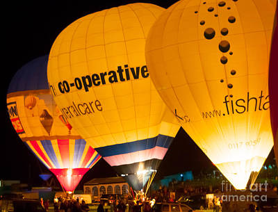 Photograph - Bristol Balloon Fiesta - Night Gl by Colin Rayner