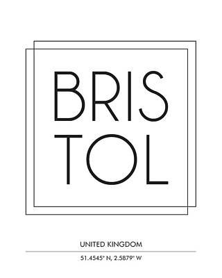 Bristol City Print With Coordinates Art Print