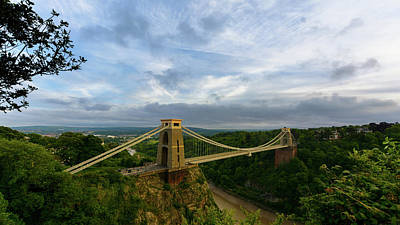 Photograph - Bristol Clifton Suspension Bridge At Golden Hour D by Jacek Wojnarowski