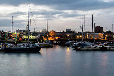 Photograph - Bristol Marina A In Early Morning by Jacek Wojnarowski
