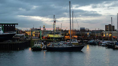 Photograph - Bristol Marina B In Early Morning by Jacek Wojnarowski