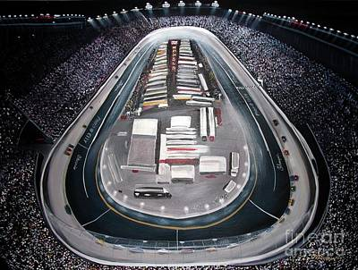 Painting - Bristol Motor Speedway Racing The Way It Ought To Be by Patricia L Davidson