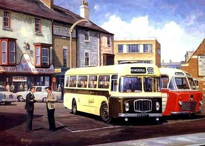 Nostalgia Painting - Bristol Rehl Coach by Mike  Jeffries