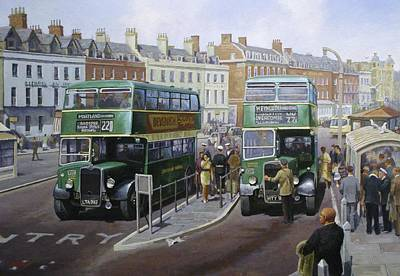 1950s Painting - Bristols At Weymouth by Mike  Jeffries
