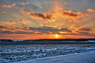 Photograph - Bristow January Sunset by Bonfire Photography