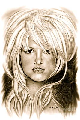Musicians Drawings Rights Managed Images - Britney in Antic Royalty-Free Image by Gitta Glaeser