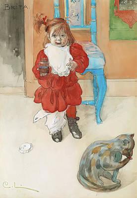 Licking Painting - Brita by Carl Larsson