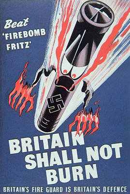 Britain Shall Not Burn Art Print by English School