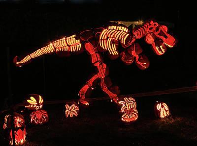 Photograph - Brite Nites - Tyrannosaurus Rex by Allen Beatty