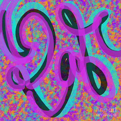 Digital Art - Brite Write by Carol Jacobs