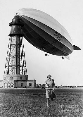 Painting - British Airship, C1930 by Granger