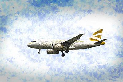 Airways Digital Art - British Airways A319 Feather Design Art by David Pyatt