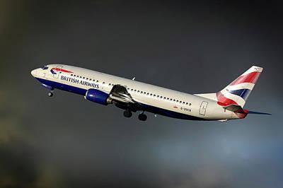Airways Photograph - British Airways Boeing 737-436 by Nichola Denny