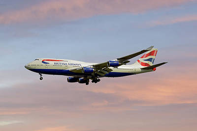 Aircraft Photograph - British Airways Boeing 747-436 by Smart Aviation